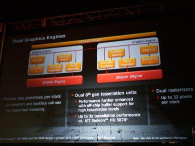 Prezentace AMD Radeonů HD 6900: Dual graphics engines