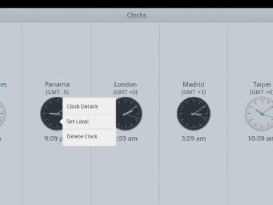 Intel Tablet User Experience - Světový čas