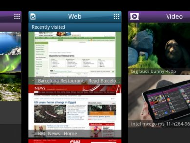 Intel Tablet User Experience - panely