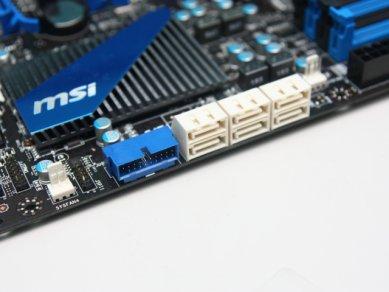 MSI 990FXA-GD80 - SATA porty, front panel USB 3.0 header