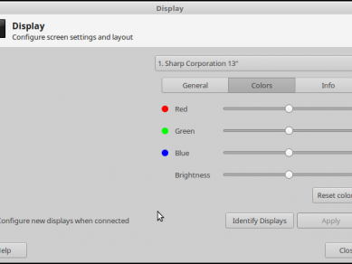 Display Dialog Colors