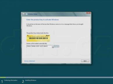 Windows 8 Consumer Preview - zadání klíče