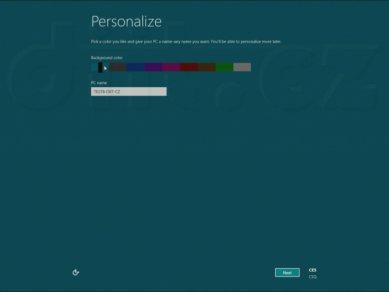 Windows 8 Consumer Preview - zadání jména PC a přizpůsobení pozadí