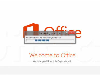 Office 2013 Preview - Connecting to your account