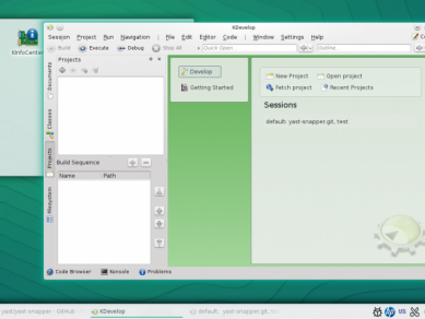Opensuse 132 Kdevelop 132