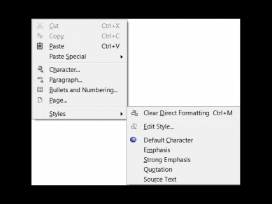 Submenu Styles In Context Menu Writer 5