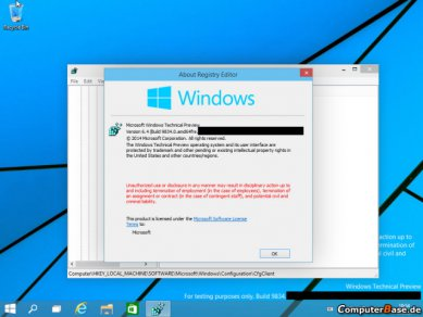 Windows 9 Dp About System