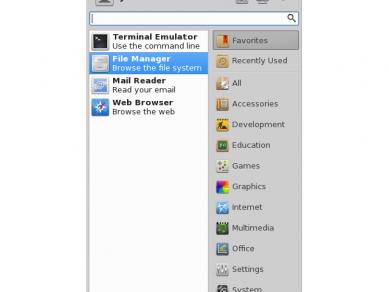 Xfce 412 Whiskermenu Default