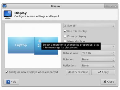 Xfce 412 Xfce 4 Display Settings Twoscreens