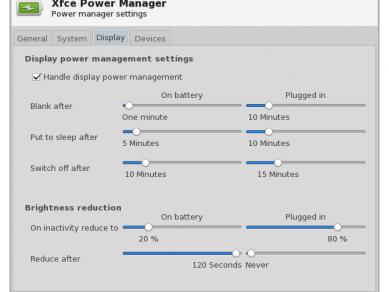 Xfce 412 Xfpm Prefs Display