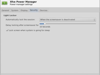 Xfce 412 Xfpm Prefs Security