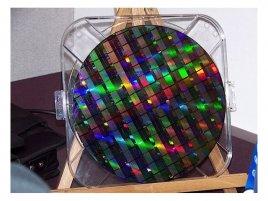 Intel Larrabee wafer