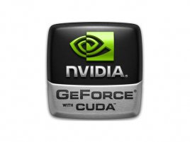 Nvidia GeForce with CUDA logo
