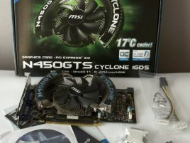GeForce GTS 450: MSI Cyclone, obsah balení