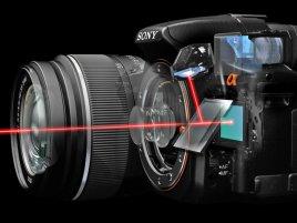 Sony A55 - translucent mirror