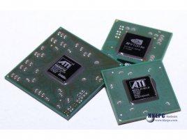 Radeon X550 SE (vlevo), X1300 CE (vpravo) a GeForce 7100 GX (vza
