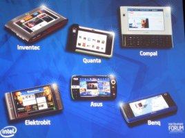 Ukázka Mobile Internet Devices (MID)