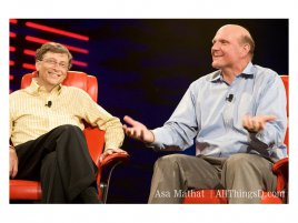 Bill Gates a Steve Ballmer na D:All Things Digital conference (2