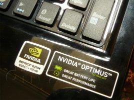 Nvidia Optimus štítek