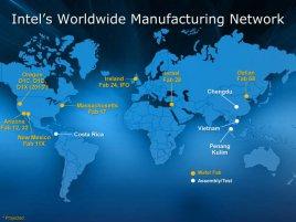 Intel´s Worldwide Manufacturing Network
