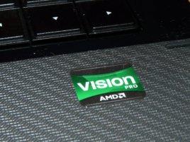 Štítek AMD Vision na notebooku