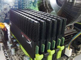 Kingston 24GB HyperX T1B XMP Memory 6×4GB @ 1600 MHz