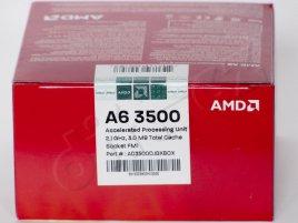 AMD A6-3500 box - štítek
