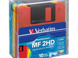 Verbatim 3,5palcové diskety MF 2HD v průhledné krabičce