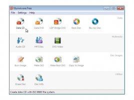 BurnAware 3.0 grafické rozhraní
