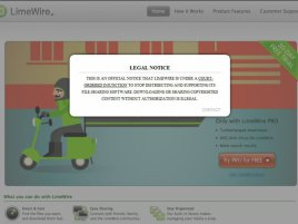 LimeWire zavřeno