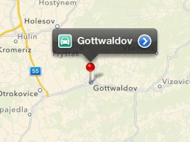 Apple maps Gottwaldov