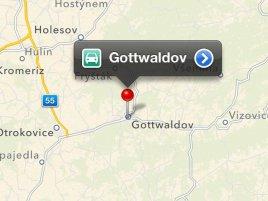 Apple maps Gottwaldov