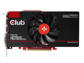 Club 3D Radeon HD 7850 1GB royalQueen front