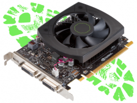 GeForce GTX 650 Ti naslapnuta grafika