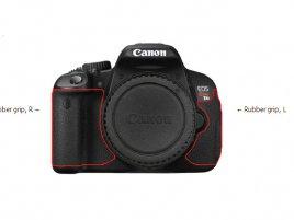 Canon 650D, postižené části
