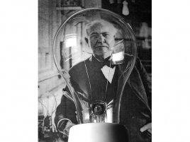 Thomas Edison s žárovkou