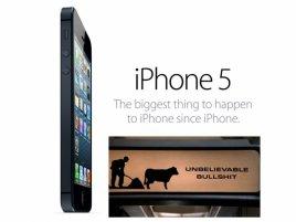 iPhone 5 - bullshit logo