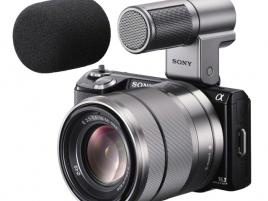 Sony NEX-5N, 15-55 mm, mikrofon