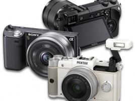 mirrorless bezzrcadlovky Sony a Pentax