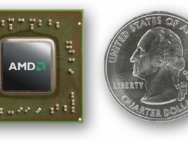 AMD Temash APU s mincí