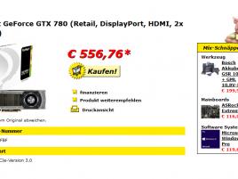 GeForce GTX 780 slevy v Německu