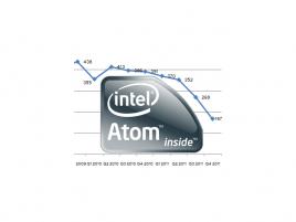 Intel Atom prodeje Q4 2011 a logo