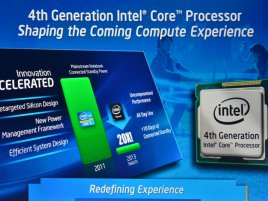 Intel Haswell 4th Gen slide