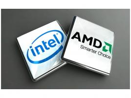 Intel logo a AMD logo