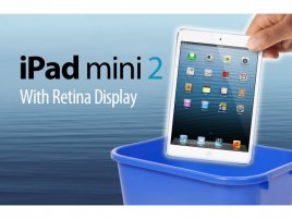 iPad Mini 2 with Retina displej recycle bin