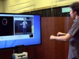 Microsoft Kinect bezdotykové ovládání