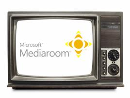 Microsoft Mediaroom logo CRT TV