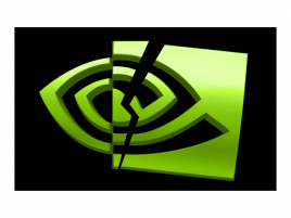 Nvidia logo rozbité