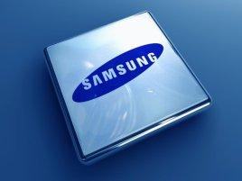 Samsung logo na čipu