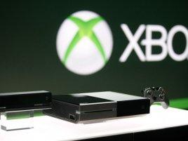 Xbox One logo v pozadí